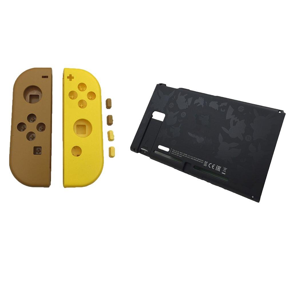 Para Let's Go Limitada Plástico de Volta Caso Tampa Traseira Caso Da Habitação Quadro Painel Para Nintendo Console do Switch & Alegria