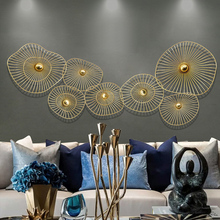 Custom New Chinese Light Luxury Wall Decoration Creative Home Hanging Sofa Background