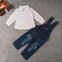Bib Denim Jeans & Shirt 2 Piece Clothing Set