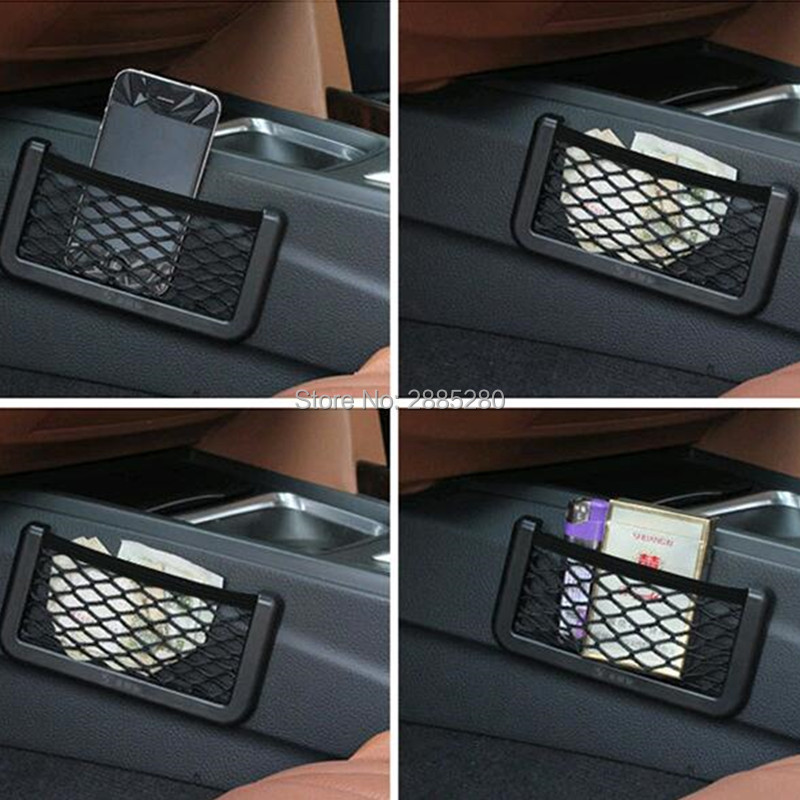 Car Storage Mesh Net Bag Holder Pocket Organizer For Mini Cooper F55 Bmw F34 Golf Gti Mazda 6 Interior Peugeot 2008 308 Audi A6