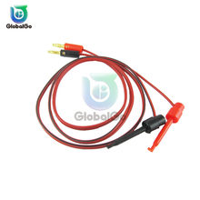 Double Head Flat Banana Plug Connector to Test Wire Clip Line Electric Power Testing Silicone Cable Line Wire(China)