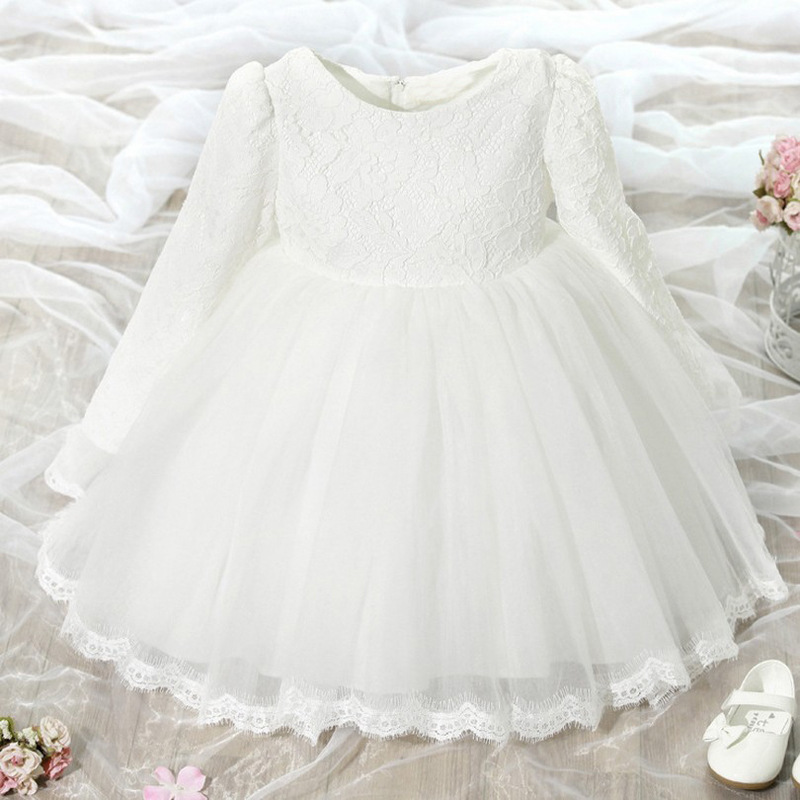 fff8cb4f2b15 Winter Baby Girl Christening Gown Infant Princess Dress 1st Birthday  Outfits Children Kids Party Wear Dress ...