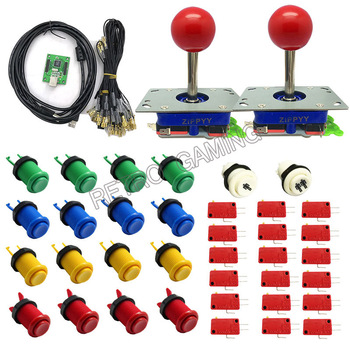 DIY Zero Delay 2 Players Arcade Game Controller with USB Encoder Adapter 4/8way joystick buttons Kit For MAME jamma