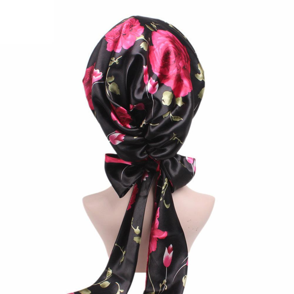 mrwonder Women Fashion Elegant Satin Cloth Beanie Hat Soft Bowknot Chemotherapy Cap SAN0