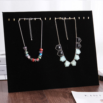 New Necklace Display Shelf Jewelry Velvet Linen Choker Holder Stand for Jewelry Stand Rack Display Stand Pendants Show Rack transparent acrylic pen rack jewelry accessories shelves small items show eyebrow pencil display shelf collection display