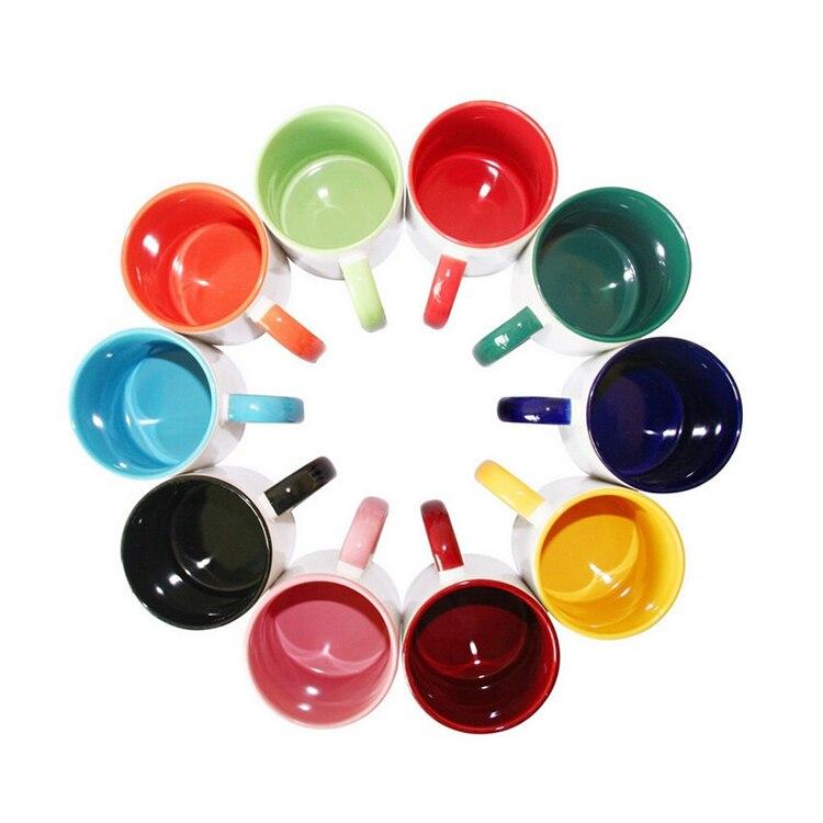 Personalized DIY photo coffee mug Multi color handle Milk Tea Cups with Custom Picture LOGO