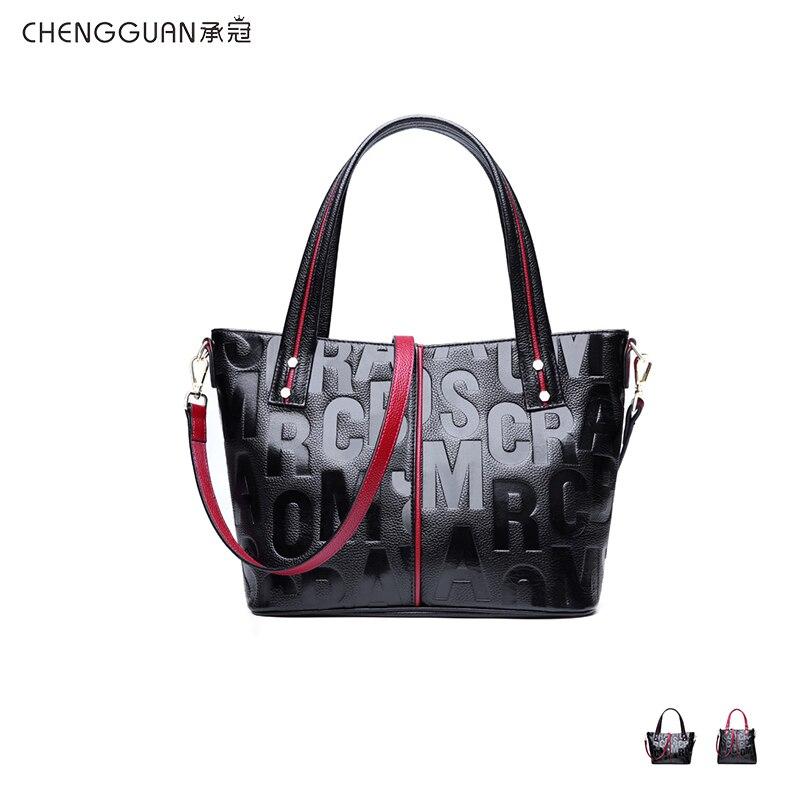 Bagaj ve Çantalar'ten Üstten Saplı Çanta'de Moda kaliteli chengguan 1047 hakiki deri Timsah desen çanta basit omuz çantası Eğimli omuzdan askili çanta için women2019'da  Grup 1