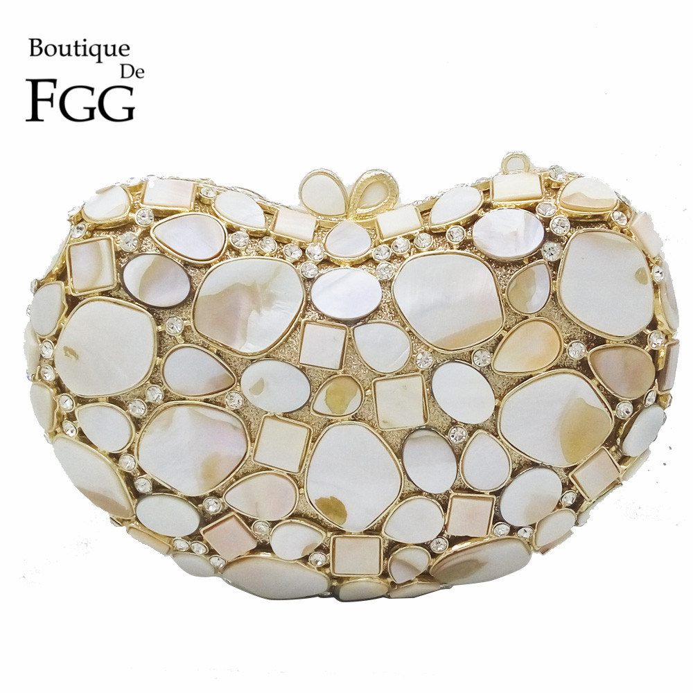 Natural White Shell Crystal Clutch Evening Bags For Women Wedding Party Dinner Handbags and Purses Bridal Diamond Clutches Bag 2017 luxury flower evening bag handmade diamond clutch bags women crystal butterfly handbags party velvet clutches purses jxy784