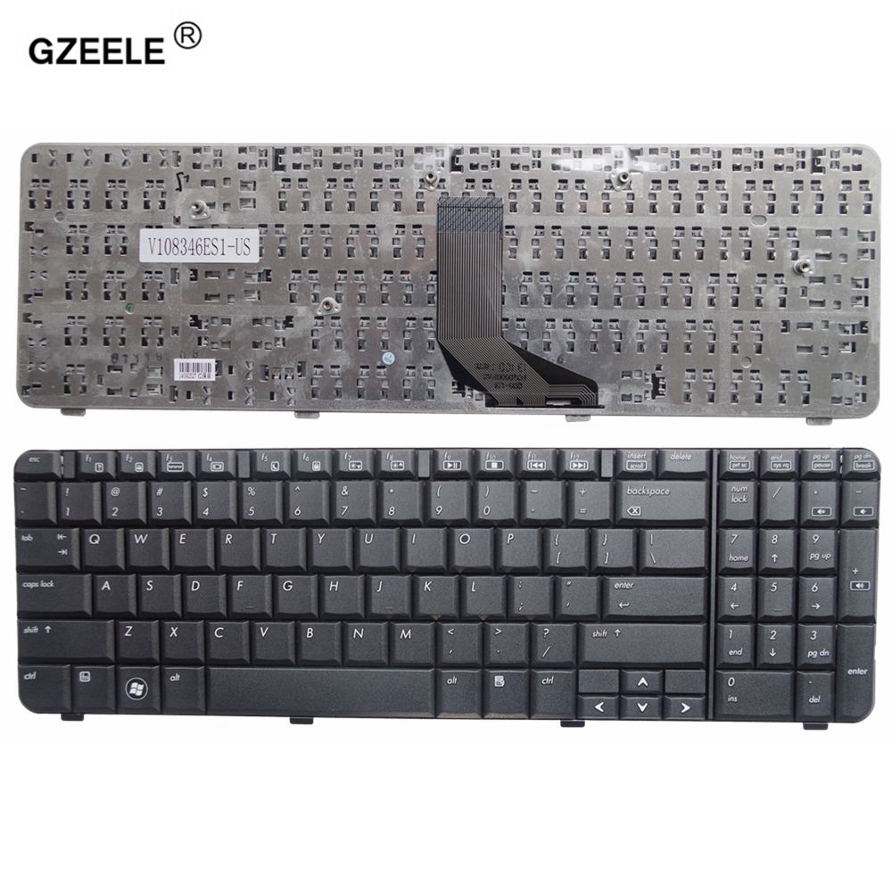 GZEELE New English Laptop Keyboard FOR HP Compaq Presario CQ61 G61 CQ61-100 CQ61-200 CQ61-300 Black US Layout