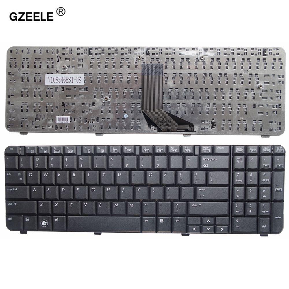 GZEELE New English Laptop Keyboard FOR HP Compaq Presario CQ61 G61 CQ61-100 CQ61-200 CQ61-300 black US layout generic new black laptop us keyboard for hp compaq 6530b 6535b series replacement parts
