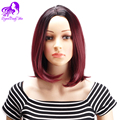 Short Red Natural Cheap Hair Wig Burgundy African American Synthetic Wigs For Black Women Female Cheap-wigs Synthetic Hair