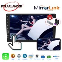 راديو السيارة لهاتف Iphone CarPlay IOS ، بلوتوث ، FM ، شاشة تعمل باللمس ، كاميرا الرؤية الخلفية ، إدخال 9 بوصة ، بطاقة TF ، ساعة وتاريخ MP5