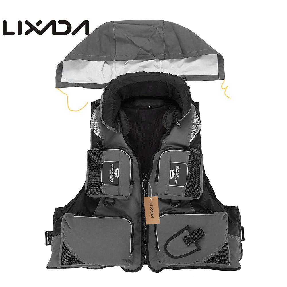 Lixada Fly Fishing chaleco poliéster al aire libre natación vida chaleco mochila carpa Pesca supervivencia seguridad chaqueta ropa de Pesca monos