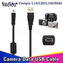 Kebidu 59 Inches 1.5M Usb Cable Camera To Pc Data Charge Transfer For Nikon For Coolpix L19 L20 L100 S620 UC-E6 For FinePix(China)
