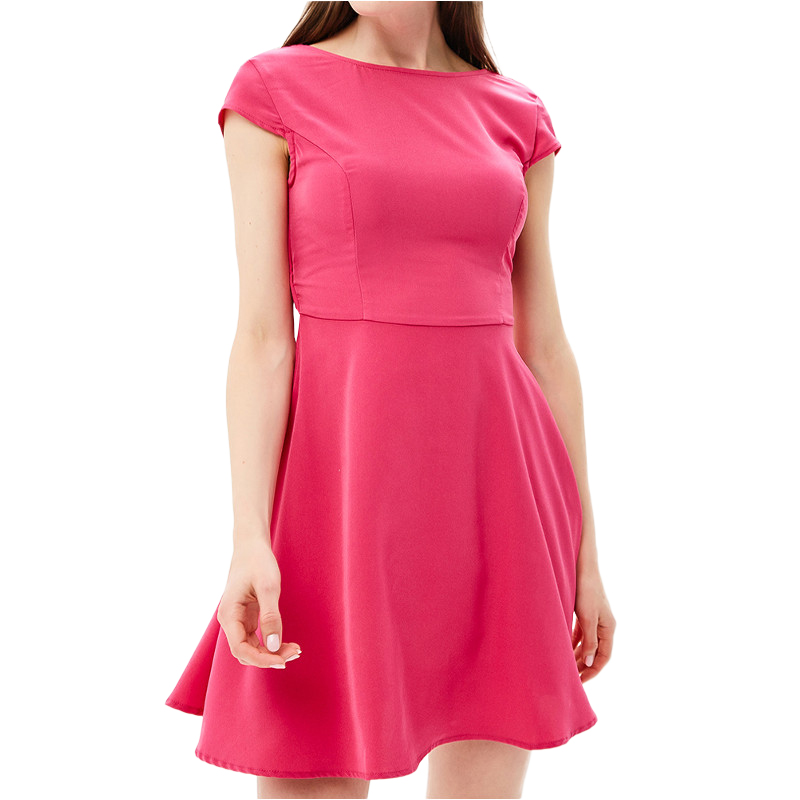Dresses MODIS M181W00720 women dress cotton  clothes apparel casual for female TmallFS alluring scoop neck ruched asymmetrical backless women s dress