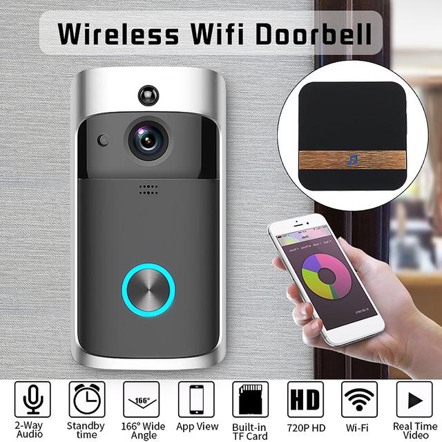 Home Security Wireless WiFi Smartphone Remote Video Camera Doorbell Rainproof  Two way talking HD Visual doorbell