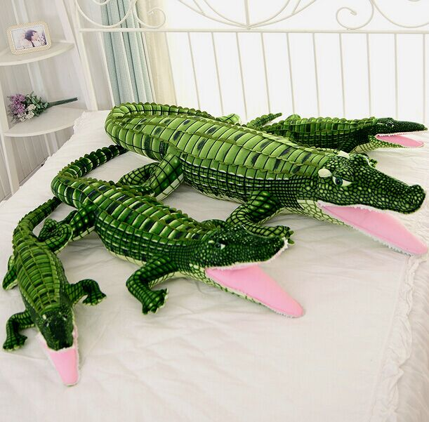 100cm large simulation crocodile plush toy, crocodile stuffed pillow cushion children's day gift wholesale birthday gift stuffed animal 44 cm plush standing cow toy simulation dairy cattle doll great gift w501