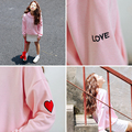 korean kawaii winter style harajuku sweatshirt women 2017 autumn hoodie pink embroidery love letter hoodies women couple