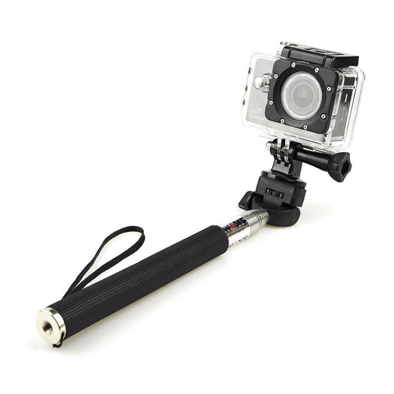 Sjcam marca alumínio handheld extensível monopé com tripé selfie vara para câmeras sjcam sj4000 wifi sj5000 mais sj5000x m10