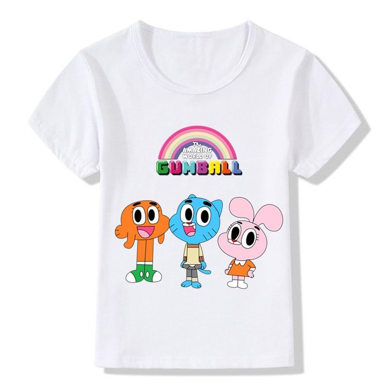 42a41abe7ad1b Enfants le monde incroyable de Gumball Cartoon drôle t shirt garçons ...