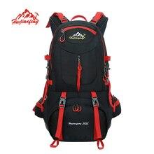 HUWAIJIANFENG Outdoor Backpack sports bag Hiking Cycling Bag Climbing 50L Waterproof Travel Backpack Big Load Knapsack Rucksack