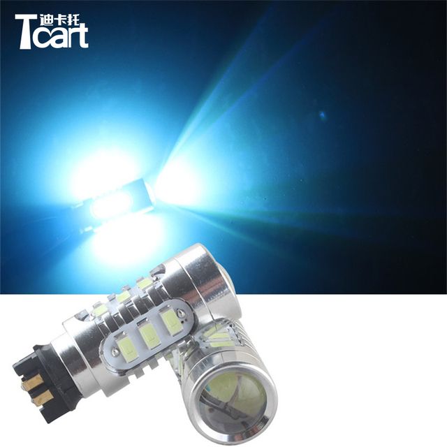US $12 83 5% OFF|Tcart 2pcs Amber Error Free PW24W LED Bulbs For Audi A3 A4  A5 Q3 MK7 Golf CC Front Turn Signal Lights B MW F30 3 Series DRL-in Signal