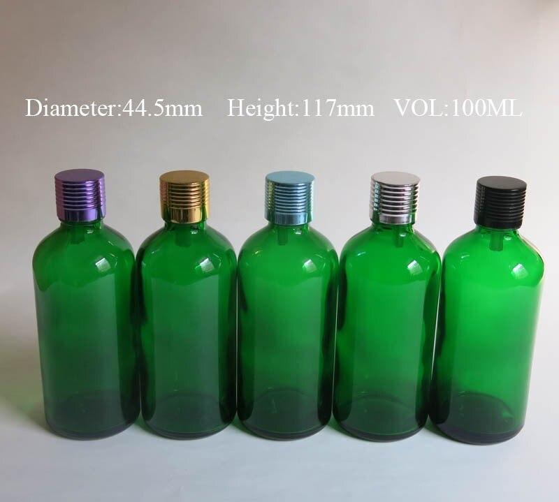 vidro frasco de óleo Essencial, aromaterapia 100 ml garrafas de vidro verde