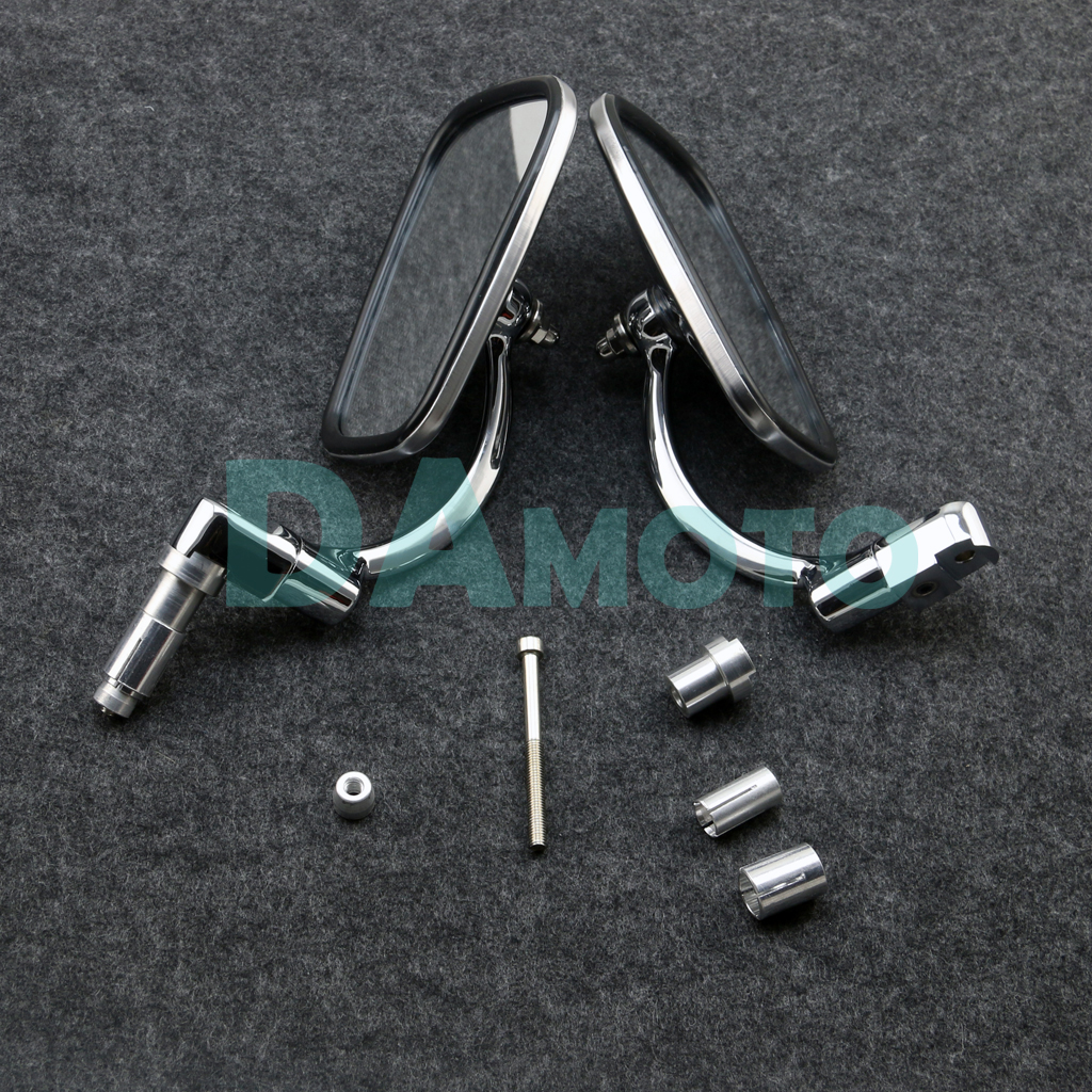 1 Pair FOR Motorcycle Cafe Racer 7 8 Grips Handle Bar End 360 Swivel Retro Rearview