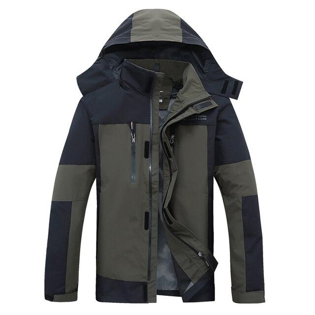 Мужские куртки Весна и Осень outdwear тонкий с капюшоном свободные пальто мужчины ветровка водонепроницаемая куртка повседневная большой размер L-6XL
