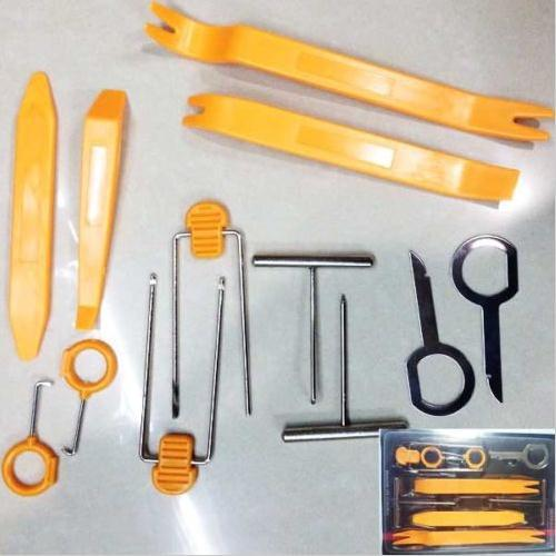 Car-Styling 12PCS Plastic Car Audio Door Clip Stereo GPS Molding Removal Install Tools Plastic Panel Kit Set New  free shipping 100pcs clip fasteners car clip door plastic routing clip case for toyota hiace