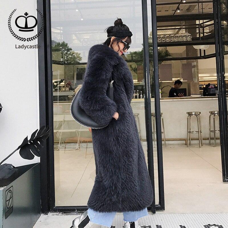 longue Renard Femmes Fourrure X Taille 2018 Dark Veste Fc 124 De Pêche Nouvelle Plus Réel Pardessus Renard Grey Véritable Manteau Grand D'hiver Coeur Collier Avec OU7XOw