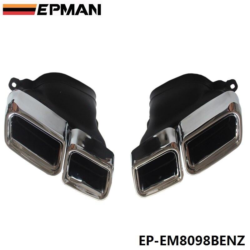 Chrome 304 acier inoxydable pour mercedes-benz AMG S65 S63 E63 embouts de silencieux d'échappement W222 W212 W205 R231 W218 EP-EM8098BENZ