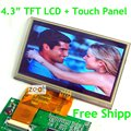 4.3 inch TFT LCD Module + Touch Screen Panel 480 x 272 Dots Free Shipping Free Tracking