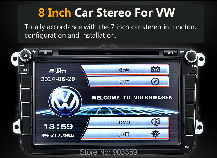 <font><b>2015</b></font> NEW 8 inch Car Stereo In Dash Car DVD Player Stereo For <font><b>VW</b></font> SKODA <font><b>JETTA</b></font> Passart GOLF TIGUAN Bluetooth Support image