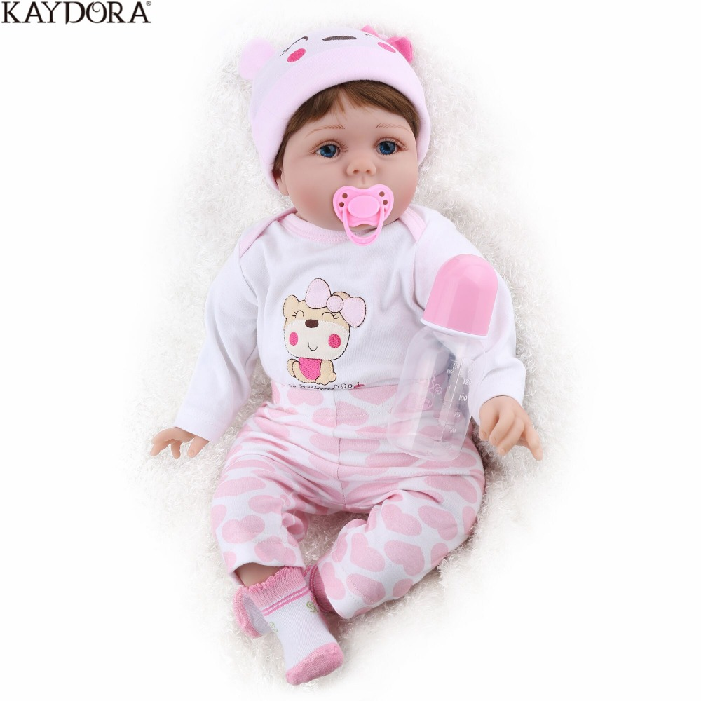 KAYDORA Reborn Baby Doll 16 inch Lucy Soft Silicone Limbs Cotton Body Plush Toys Cute Christmas Gift Girls kids Playmate LovelyKAYDORA Reborn Baby Doll 16 inch Lucy Soft Silicone Limbs Cotton Body Plush Toys Cute Christmas Gift Girls kids Playmate Lovely