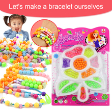 Creative Colorful DIY Jewelry Accessories Beads Space Loose Beads Hands-on Ability Exercise Kid Toy Gift For Children