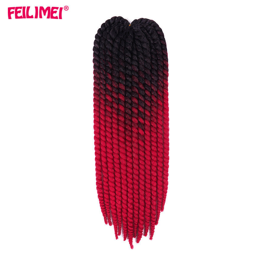 ①Feilimei primavera Twist trenzas extensiones de cabello 22 ...