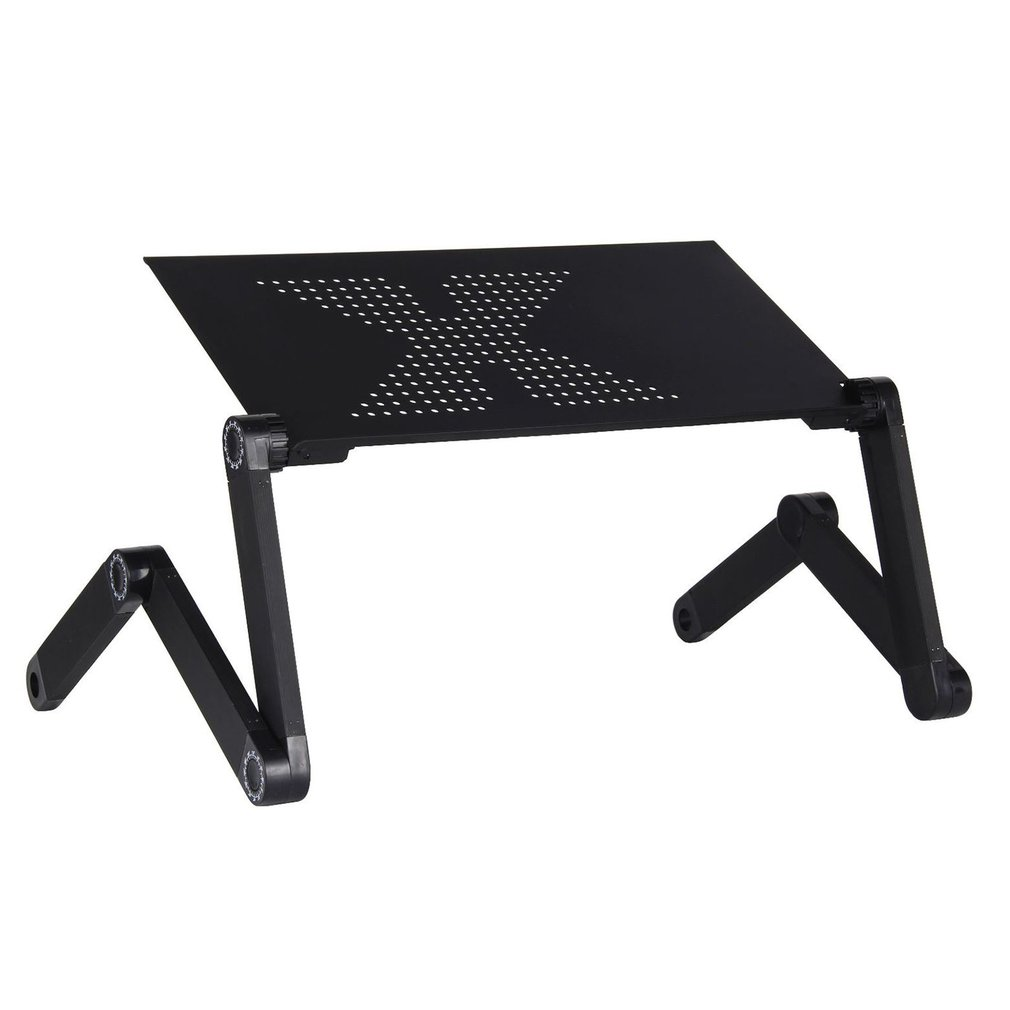 Aluminium Alloy Laptop Desk <font><b>Folding</b></font> Portable Laptop <font><b>Table</b></font> <font><b>Notebook</b></font> Desk <font><b>Table</b></font> Stand Bed Sofa Desk Tray Book Holder image