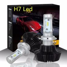2Pcs/Set 55W 8000Lumen 6000K White S7 H7 PX26D LED Car Bulb Automobile Headlight Conversion Kit With Brightest Lumileds Chip