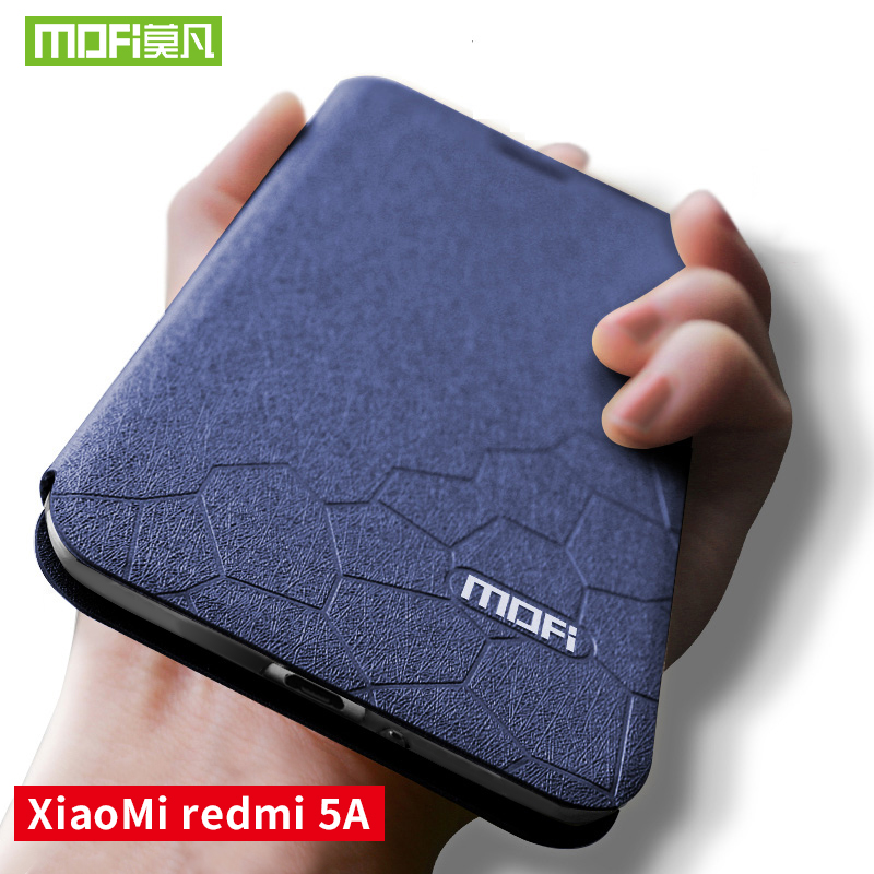 Para Xiaomi redmi 5a caso capa de silicone suave voltar Para Mofi caso de Couro da aleta redmi xiaomi redmi 5A 5a stand titular caso 5.0