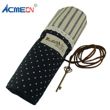 ACMECN Pencil Box Cool Cartoon Fabric Rolling Case Cute Design Multipockets School Stationery Pen and Bag for Children