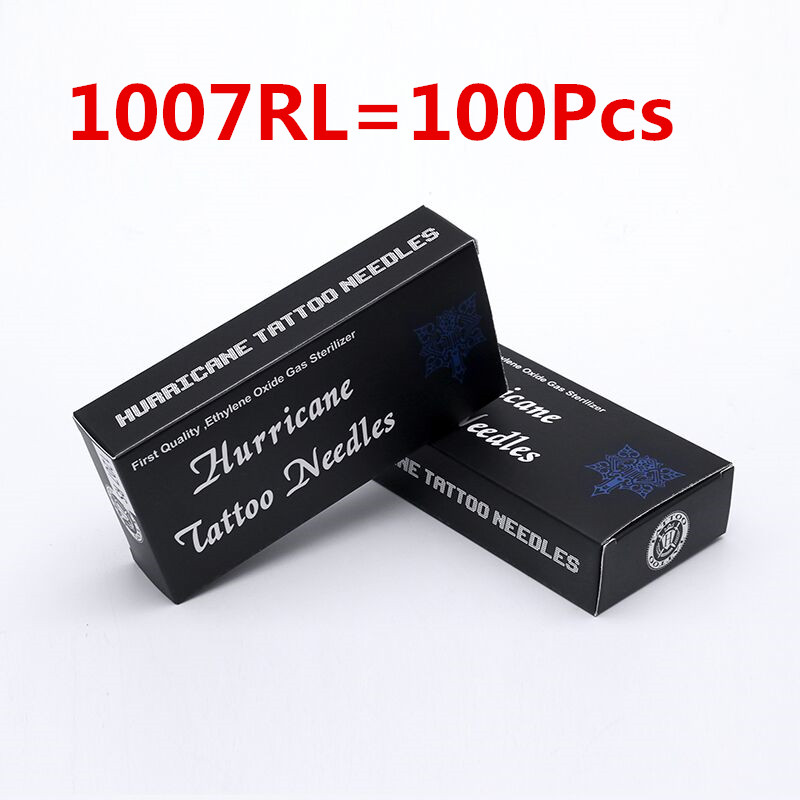 Disposable Tattoo Needles 1007RL 100pcs/lot Disposable Sterile Tattoo Needles 7 Round Liner Supply