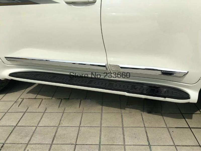 Accessories For Toyota Land Cruiser 2016 ABS Chrome Door Side Line Garnish Body Moulding Cover Protective Trim Car Styling 4pcs 2pcs abs car interior accessories center control side strip cover trim for land rover lr4 discovery 4 2013 2016 car styling