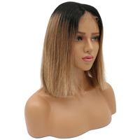 Full Lace Human Hair Wigs For Women Ombre Human Hair Wig Pre Plucked 130% Density Brazilian Straight Wig BEEOS Remy Hair