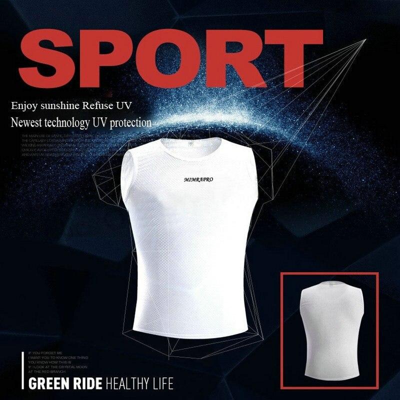 MIMRAPRO Capa de ciclismo de color blanco / Ropa interior para montar - Ciclismo