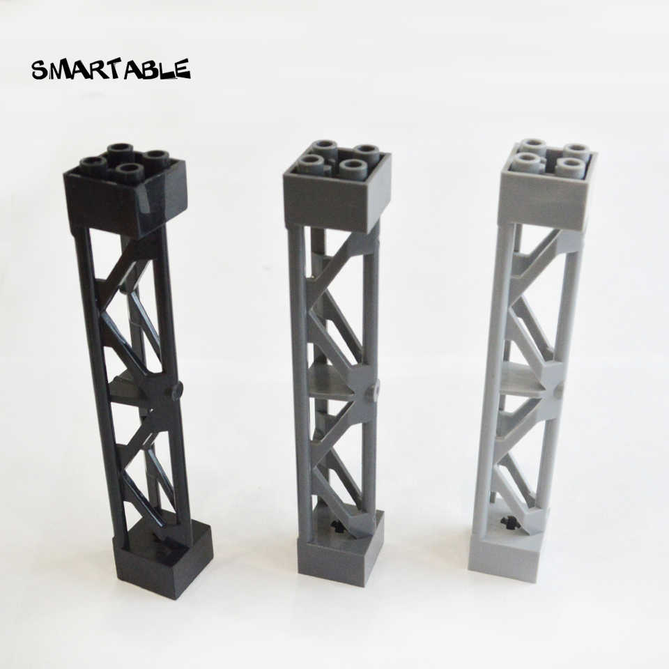 Smartable Support 2x2x10 Girder Triangular Vertical Building Blocks Parts Toys Compatible City 58827/95347 Technic 10pcs/lot