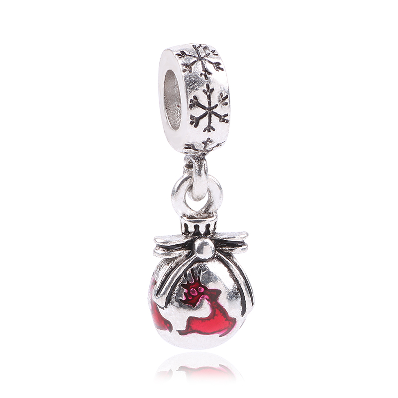 Ranqin 2018 Fashion Silver Color Charms Fits Pandora Charms Bracelet DIY Beads Skiing Boy Silver color Original Women Gift