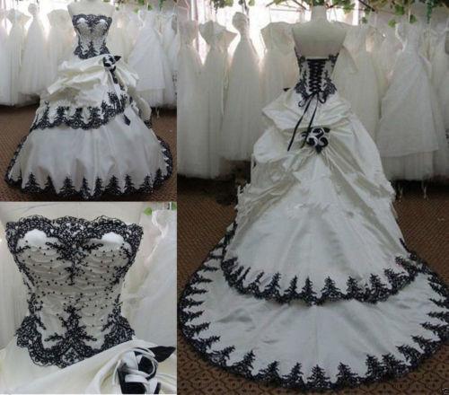 ANGELSBRIDEP Vestidos De Novia White Black Ball Gown Wedding Dresses 2019 Sexy Top Corset Court Train Formal Bridal Gowns Hot-in Wedding Dresses from Weddings & Events    1