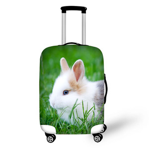 Animal rabbit bunny travel accessories suitcase protective covers 18-32 inch elastic luggage dust cover case stretchable