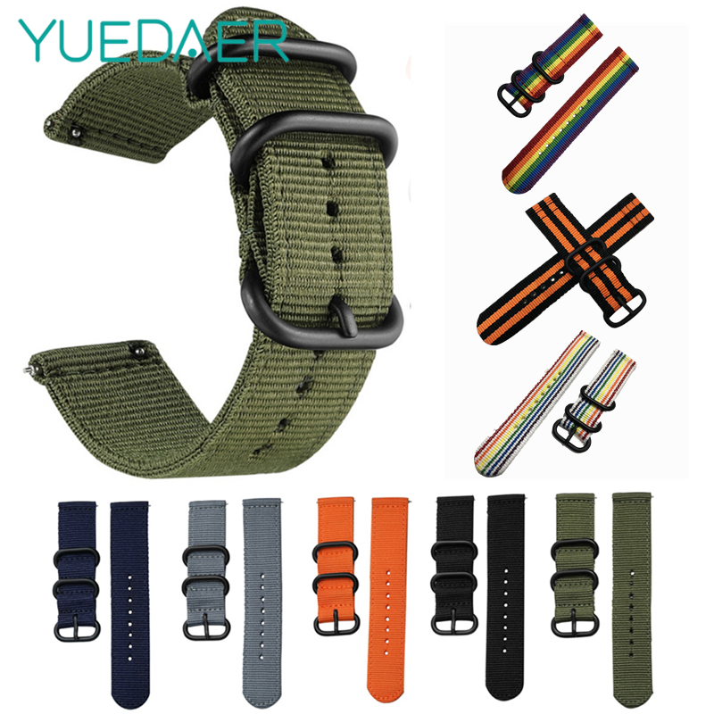Canvas Nylon Wristband Strap For Xiaomi Amazfit Stratos 2 Pace Straps For Amazfit Bip Watch band For Samsung Gear S3 S2 Bracelet Samsung Gear S3